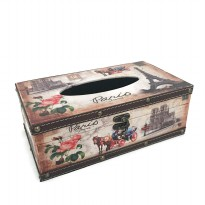 Refillable Tissue Box Holder Cover - Tempat Tissue Corak Antik Jadul Kuno - Paris