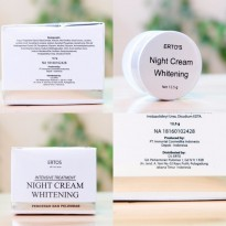 Ertos Night Cream Whitening 12,5gr erto's Original pencerah pelembab bedak intensive treatment malam