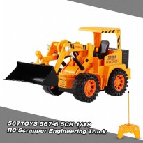 Mainan Alat Berat Bulldozer RC King Of Truck 1/18 5Ch No. 567-6