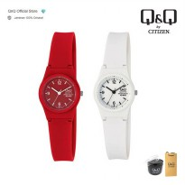 Q&Q Original Jam Tangan Wanita Analog Casual VP47J Series | Water Resist / Rubber Strap