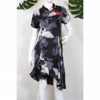 Shevy - Aliee Birdie Cheongsam Dress - Black