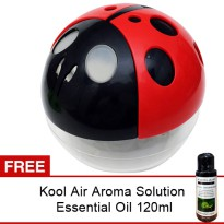 Air Purifier-Penjernih Udara Ladybug with Color Changing LED & Ionizer/Free Aroma Solution 120ml