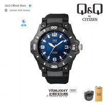 Q&Q QnQ QQ Original Jam Tangan Analog Sport Watch - VR86 VR86J Water Resist
