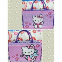Termurah! TRAVEL BAG KANVAS KOPER ANAK HELLO KITTY PERI UNGU