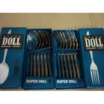 [SUPER DOLL] SENDOK/GARPU STAINLESS STEEL ISI 6PCS