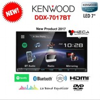 Kenwood DDX-7017BT Head Unit 2din Double Din DDX 7017 BT Tape Audio Mobil Air Mirroring DDX7017BT
