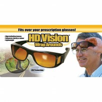 Wrap Arounds HD Vision / kacamata anti silau [ lensa berwarna kuning ]