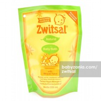 Zwitsal Natural Baby Bath With Minyak Telon Refill Pouch - 250 ml