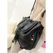 Termurah! TAS FASHION WANITA IMPORT - SHOULDER BAG - M20462 BLACK