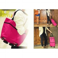 Termurah! FOLDABLE SHOPPING TROLLEY BAG ~ TAS TROLLEY LIPAT