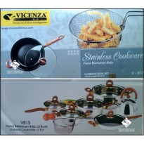 [Vicenza] Stainless Cookware Set ( V-813 )