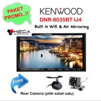 Paket Audio Mobil Kenwood DNR-8035BTIJ4 Double Din DNR 8035BT IJ4 Tape Head Unit + Rear camera
