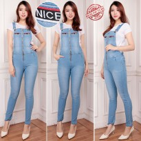 SB Collection Celana Panjang Rina Jumpsuit Overall Jeans Wanita