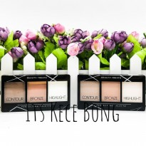 [DISKON] Mukka Beauty Treats Perfecting Palette Contour Bronze Highlight
