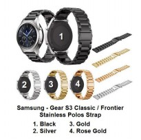 Samsung Gear S3 Classic / Frontier - Strap Stainless Steel Polos Tali Jam Band Smart Watch