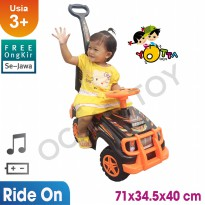Ocean Toy Yotta Ride On Mobil Orange Energy Mainan Anak