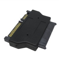 Sata 22pin to Micro Sata 16pin Adapter for 1.8 inch SSD 3.3V/5V - Black