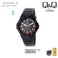 Q&Q QnQ QQ Original Jam Tangan Analog Casual Rubber - GT44 GT44J Water Resist