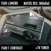 Yourday Mini Led Projector Portable 1500 Lumens + Tv Tuner