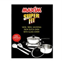 [Maxim] Super Fit 3pcs Set Stainless Steel - Silver