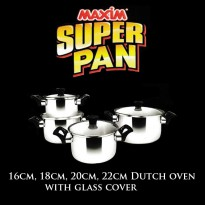 [Maxim] Super Pan 4pcs Set Stainless Steel - Silver