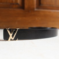 Promo! Gesper Ikat Pinggang Belt Wanita Fashion Louis Vuitton Lv 92 Gold