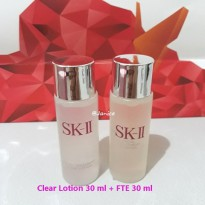 SK-II Paket Basic Facial Treatment Essence FTE & Clear Lotion (toner) 30ml