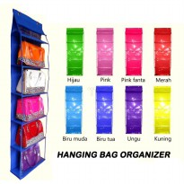 Rak Tas Gantung Jumbo Retsleting Hanging Bag Organizer With Zipper HBOZ Full Triplek