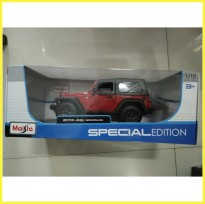 Diecast Car Maisto 2014 Jeep Wrangler Willy's Red w/ Roof NEW MIB