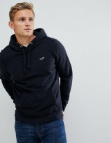 Hollister icon logo hoodie navy