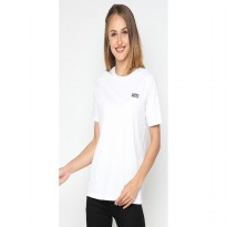 Mobile Power Ladies T-shirt Mobile Power Text Screen Printing - White A113