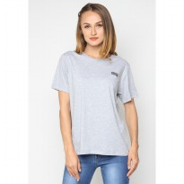 Mobile Power Ladies T-shirt Mobile Power Text Screen Printing - Grey A115