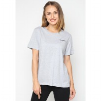 Mobile Power Ladies Short Sleeve T-Shirt Embroidery Text - Grey A122