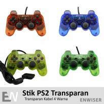 Stik PS2 Joy Stick Playstation 2 Transparan Kabel Aksesoris Game