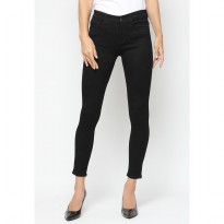 Mobile Power Ladies Mama Size Long Pants Jeans - Black A5906
