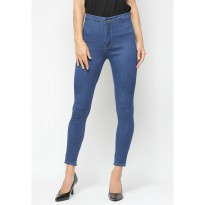 Mobile Power Ladies  Long Pants Highwaist Jeans - Blue A2503