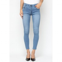Mobile Power Ladies  Long Pants Slim Fit Jeans - Blue A2802