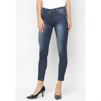 Mobile Power Ladies  Long Pants Highwaist Jeans - Dark Blue A5904