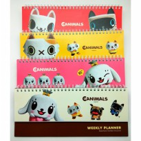 SCHEDULE WEEKLY PLAN DESAIN CANIMALS PINKFOOT 19-583