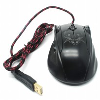 AUW Wired Gaming Optical Mouse Left Roller - X9 - Black