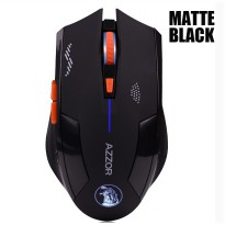 Azzor Mouse Gaming Wireless Rechargeable USB 2400 DPI 2.4G - Black