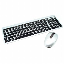 Lenovo Ultraslim Plus Wireless Keyboard and Mouse SM-8861 Lang Spanish - Silver