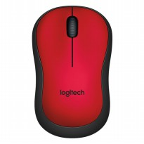 Logitech Silent Plus Wireless Mouse - M221 - Red