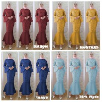 Maxi Dress Duyung Brukat
