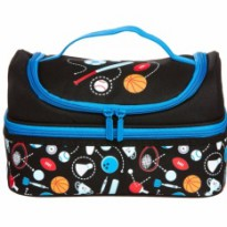smiggle lunch box double deck black