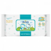 Sweety Baby Wipes Perfumed - 80+4 Sheet ( Tisu Basah )