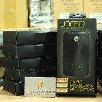 UNEED powerbank 14000 mAh Sanyo Cell - Dual Output 1 Ampere & 2 Ampere