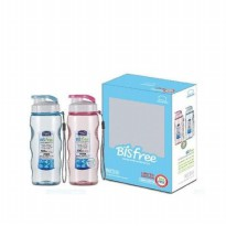 Lock & Lock Bisfree Sport Water Bottle 2P SET Pink + Blue with Gift Bo