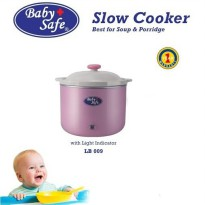 Baby Safe Slow Cooker with Light Indicator LB009 Packing kayu asuransi