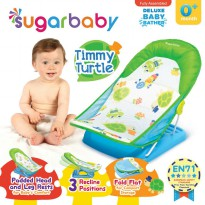 Sugar Baby Deluxe Baby Bather Timmy Turtle Green Alas Dudukan Mandi Bayi